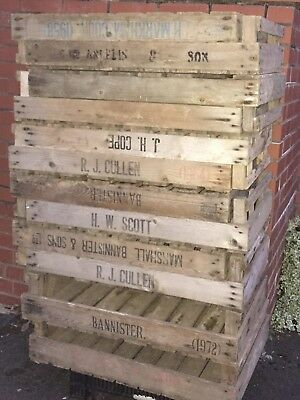 £5Ea Or 5 For £20! Vintage Antique Rustic Wood Tray Apple Crate Potato Box