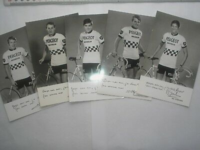 5 cp photos équipe PEUGEOT MICHELIN 1971 cyclisme ciclismo cycling DESCRIPTION