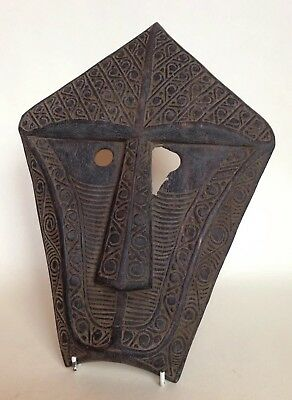 Unusual Tribal Art Mask with Carved Detail