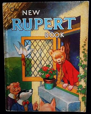 Vintage 1946 Rupert Bear Annual, Price Unclipped 3/6, No Facsimlie This Year