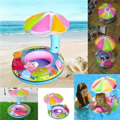 Inflatable Baby Water Float PVC Seat Boat Pool Toy Toddler Swimming Ring EC