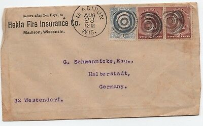 1886 Cover Usa Madison  To Germany