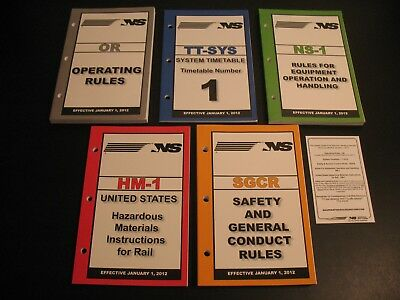 Norfolk Southern Railroad Employee Timetable 2012 Rules For Equipment Hazmat Lot