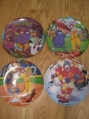 4 McDonald's Melamine Collector's Plates - 2004(2) - 2006 - 2007