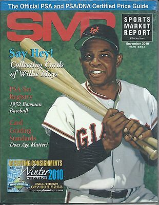 SMR Sports Market Report 2010 NOV Say Hey! Willie Mays PSA Registry 1952 Bowman