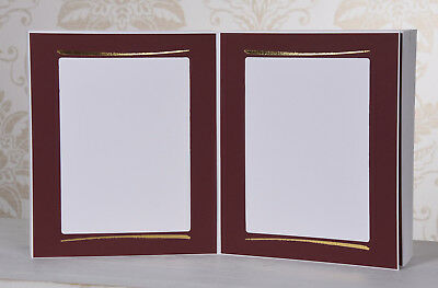 Picture Folder/Leporello for 100 Photos 15x20 - Red with Golden Dash - PI338G