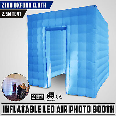 2.5M Inflatable LED Air Pump Photo Booth Tent Birthday Oxford Fabric Party