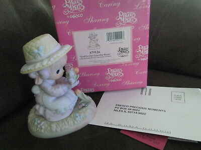 PRECIOUS MOMENT Porcelain Lord Let our Friendship Bloom Figurine NEW IN BOX