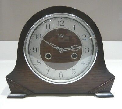 Vintage 1940's Smiths Enfield 8 Day Striking Mantle Clock for repair