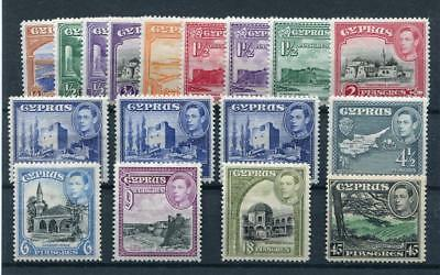 Cyprus 1938-51 short set to 45pi SG151/61 MM