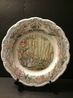 Royal Doulton Brambly Hedge Plate 'The Adventure' MINT
