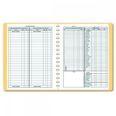 Dome 612 Monthly Bookkeeping Record with Tan Cover and 128 Pages 11 x 8-1/2 I...