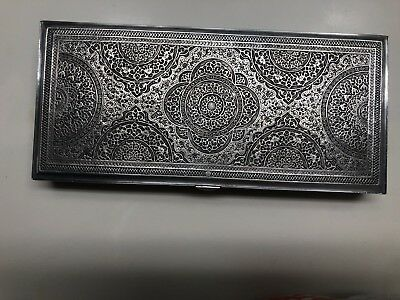 Pure SILVER Middle Eastern Hand Engraved, PERSIAN, precious metals FREE Shipping