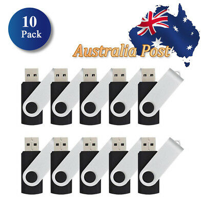 AU - 10 Pack (64MB-8GB) U-Disk, USB2.0 Flash Drive Memory Pen Fold Storage Stick