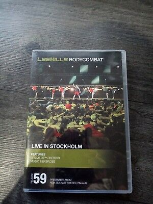 Les Mills BodyCombat 59 Dvd, CD & choreography notes. Live in Sweden