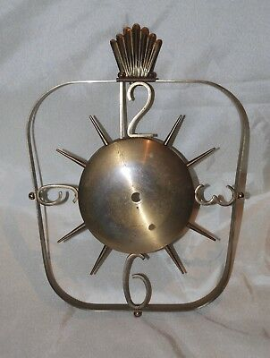 Vintage Brass Phinney Walker Wall Clock Frame Only (clock housing absent) Retro