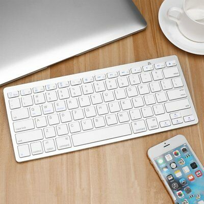 SILVER ULTRA SLIM Wireless Bluetooth Keyboard For iMac iPad Apple