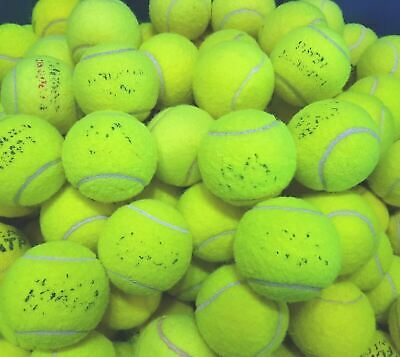30 Used Tennis Balls For Dogs / Games - Machine Washed - Low Price !