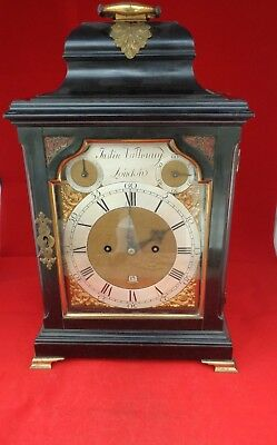 Antique English Bracket Clock Bell Striking
