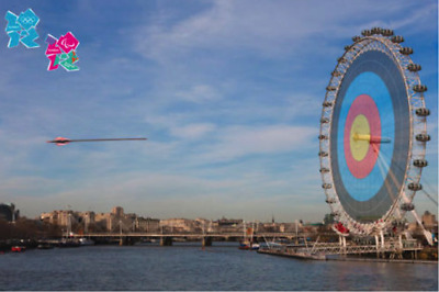 Target London Eye Poster for Olympic Games 2012 - New Unopened