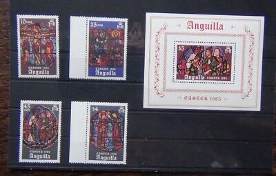 Anguilla 1986 Easter set & Miniature Sheet MNH
