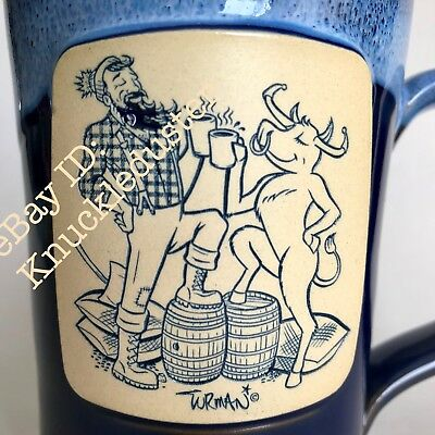 Cheers Deneen Coffee Mug Cup Paul Bunyan Babe Ox Adam Turman Death Wish Sticker
