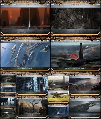 Topps Star Wars Card Trader Rogue One Concept Art Wave 2 [15 CARD SET]