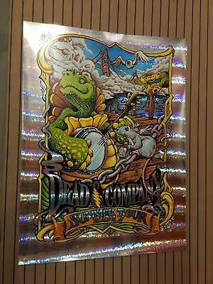 Dead And Company STAINED GLASS FOIL Summer tour POSTER 2017 Print AJ Masthay 17