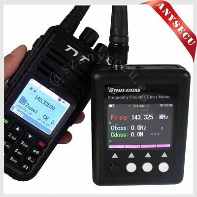 SF401-PLUS Portable Frequency Counter with CTCCSS/DCS Decoder +UHF Antenna