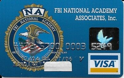 Vintage FBI NA VISA Bank Card  JFCU