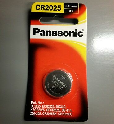 1 x PANASONIC CR2025 3V Lithium Coin Cell Battery 1 Cell