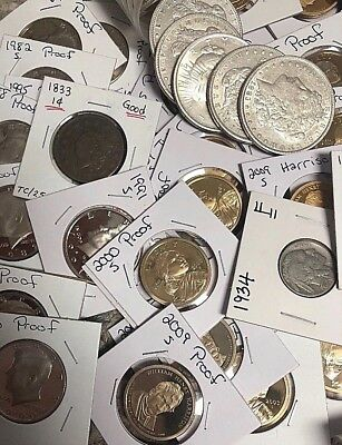 Rare Coin Lot-Morgans,Seated Lib,Odd Cent Coins,2 Semi Rare,20 Proof/BU W/Silver