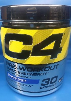 12X Cellucor C4 Explosive Energy G4 Pre-Workout Icy Blue Razz  30 Serving Clumpy