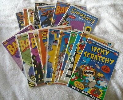 Simpsons Comics, Lot of 17, Early issues,