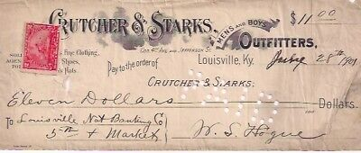 Crutcher and Starks. July 28, 1901. Louisville, Ky.
