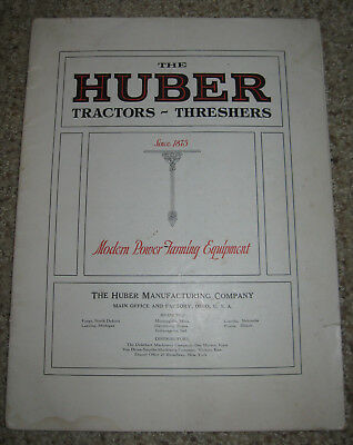The Huber-Tractors-Threshers Advertising Catalog-Undated-Fold Out Loose-40 pages