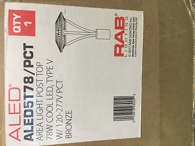 RAB  LED Pole  Post Mount Circular with Dusk to Dawn photocell ALED5T78/PCT