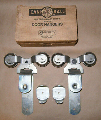 Vintage Cannon Ball Roller Bearing Barn Door Hanger NOS Galvanized 384-D