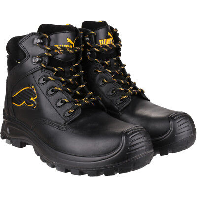 f1377154f85 PUMA SAFETY FOOTWEAR Mens Borneo Mid Leather S3 HRO SRC Safety Boots ...