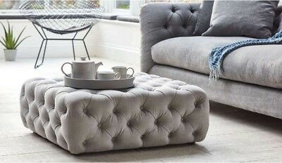 New Chesterfield Style deep Buttoned Footstool/Coffee Table.
