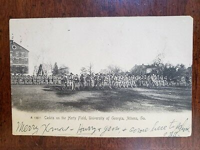 Antique Postcard,1905 Cadets on Merty Field, University of Georgia, Athens, GA.