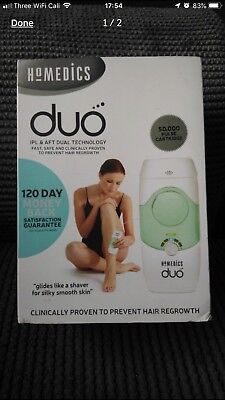 Homedics DUO IPL & AFT Hair Remover 50,000 Pulses Face Body Bikini - No reserve!