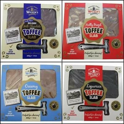 Walkers Toffee Slabs & Hammer 400g Liquorice Brazil Selection Original Chocolate