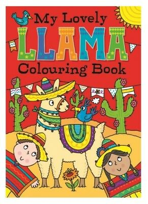 2x MY LOVELY LLAMA A4 JUMBO CHILDRENS COLOURING BOOK BOOKS FUN PICTURES LEARNING