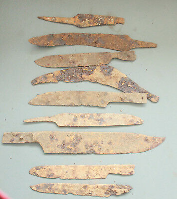 Lot of 10x Ancient Roman Iron Knife  L=130-225mm  330gr