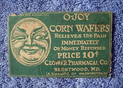 O-Joy Corn Wafers Envelope, Cannabis Indica, Clower Pharmacy Co., Brentwood, MD