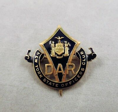 DAR New York State Officers Club Pin - Stamped RG - 1960's
