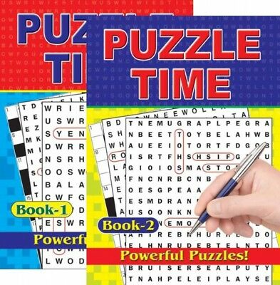2 X A4 Large Print Word Search Crossword Puzzle Book Books 280 Puzzles A4 Pages