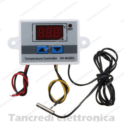 Termostato Xh-w3001 220V 1500W Controllo Temperatura Digitale Led Sonda LCD
