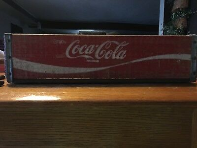 Antique/Vtg Wooden COCA-COLA Crate Box Tray Carrier Caddy Case Red Coke Bottle